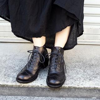 アシナガオジサン(あしながおじさん)の美品 あしながおじさん レースアップブーツ 24.5(ブーツ)