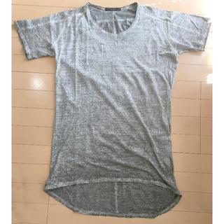 ユリウス(JULIUS)のユリウスjulius 総柄プリントカットソー Tシャツ グレー SIZE2 中古(Tシャツ/カットソー(半袖/袖なし))