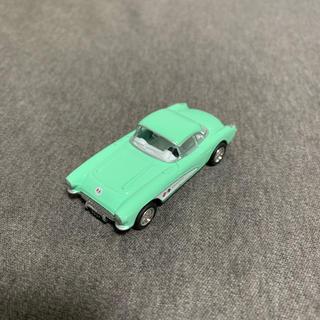 シボレー(Chevrolet)の1957 シボレー コルベット ミニカー グリーン 1/64サイズ(ミニカー)