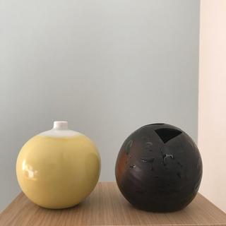 ハクサントウキ(白山陶器)の花瓶 一輪挿し 2点セット(白山陶器・波佐見焼/有田焼)(花瓶)