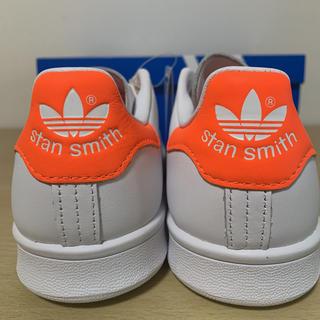 アディダス(adidas)の新品 アディダス スタンスミス W  スニーカー ホワイト オレンジ 24(スニーカー)