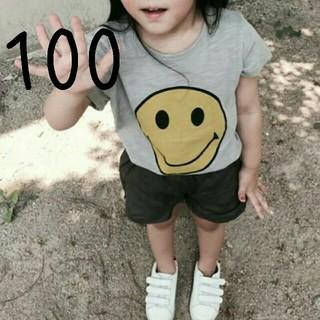 【新品】(100)スマイリーTシャツ(Tシャツ/カットソー)