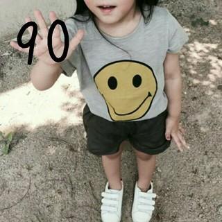 【新品】(90)スマイリーTシャツ(Tシャツ/カットソー)