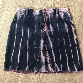 パナマボーイ(PANAMA BOY)の古着 デニムスカート(ひざ丈スカート)