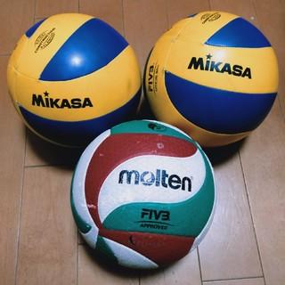 ミカサ(MIKASA)のバレーボール3球〖5号球〗中古品(バレーボール)