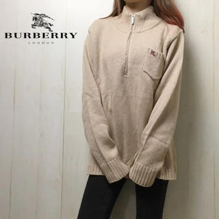 BURBERRY - 0304 バーバリー ニット ロゴ リブ