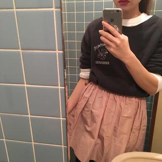 ミュウミュウ(miumiu)のmiumiu baby pink skirt.(ミニスカート)