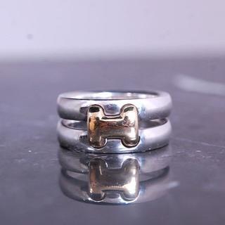 エルメス(Hermes)のエルメス オランプ リング H ロゴ コンビ ゴールド シルバー K18 YG (リング(指輪))