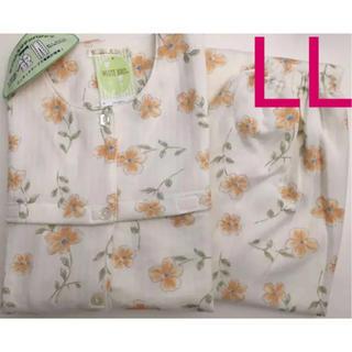 新品 LL 全体全開着替え楽々介護に優しい設計キルト婦人パジャマ レディース(パジャマ)