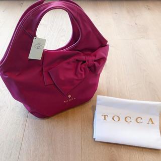 トッカ(TOCCA)の新品 トッカ バッグ リボン ピンク ハンドバッグ(ハンドバッグ)