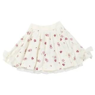 ロディスポット(LODISPOTTO)のLittle Rose embroideryスカート ミルフィーユクローゼット(ミニスカート)