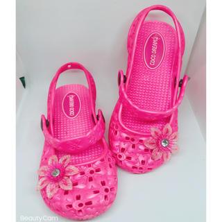 crocs - 【ほぼ未使用】女児 サンダル 靴 16cm  ピンク ココドリーム