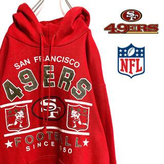 ヘインズ(Hanes)の〔アメリカ製〕90s NFL 49ers パーカー プルオーバー ビッグロゴ(パーカー)