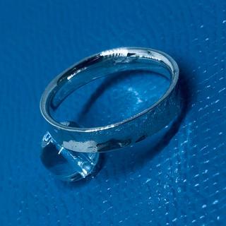 SILVER925 平打ち 叩き打ちシルバー925 リング  14号ギフト銀指輪(リング(指輪))
