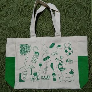 カルディ(KALDI)のカルディ トートバッグ 緑(ノベルティグッズ)