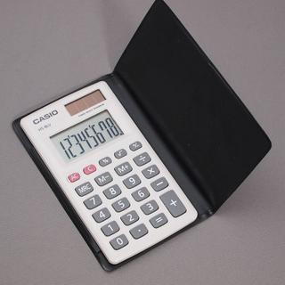 CASIO - 電卓 CASIO ポータブル電卓 カードタイプ 8桁 HS-8LV-WE