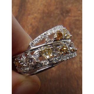 見てください!人気のマルチカラーダイヤです!Pt900ダイヤリング 13号(リング(指輪))