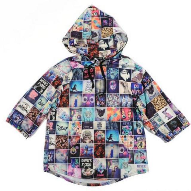 MILKBOY(ミルクボーイ)のMILKBOY ミルクボーイ インスタグラム柄パーカー 七部丈 メンズのトップス(パーカー)の商品写真
