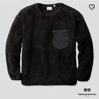UNIQLO - ユニクロ  Engineered Garments フリースプルオーバー 黒 M