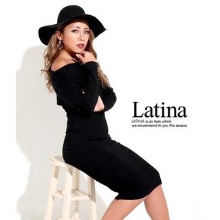 アナップラティーナ(ANAP Latina)のanap Latina オフタートル タイトフィット ニット ワンピース F(ひざ丈ワンピース)