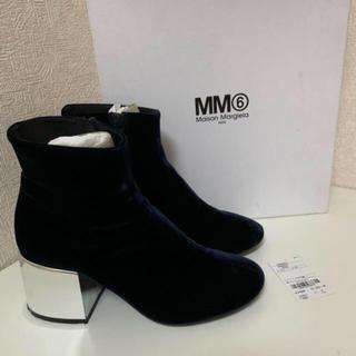 エムエムシックス(MM6)の定価8万円 MM6 ベロアブーツ 38(ブーツ)