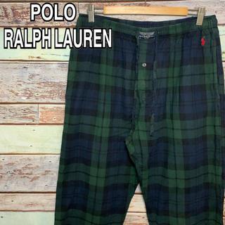 ポロラルフローレン(POLO RALPH LAUREN)のポロ ラルフローレン 90s パジャマパンツ イージーパンツ 刺繍ロゴ 古着 L(その他)