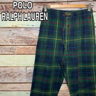ポロラルフローレン(POLO RALPH LAUREN)のポロ ラルフローレン 90s パジャマパンツ イージーパンツ 刺繍ロゴ 古着 S(その他)