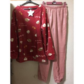 フランネル ふわもこ パジャマ ピンク