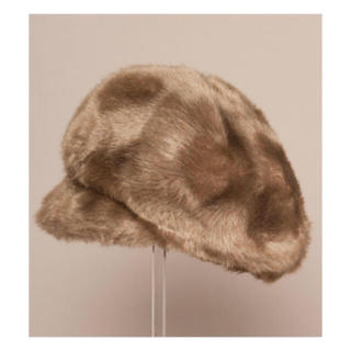 ロキエ(Lochie)のvintage ファーキャップ(ハンチング/ベレー帽)