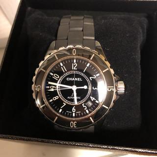 CHANEL - 値下げ!CHANEL J12 ブラックセラミック38ミリH0684腕時計 自動巻