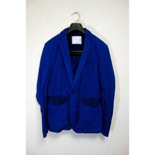 sacai - 【美品】sacai 後染め切替ジャケット サカイ サイズ2 青