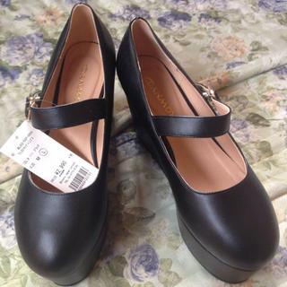 WEGO(ウィゴー)のWEGO♡ワンストラップ厚底ぽっくり靴 レディースの靴/