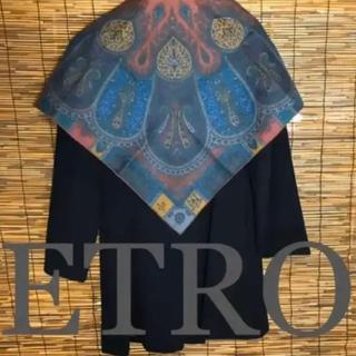 エトロ(ETRO)の新品同様 エトロ ペイズリー スカーフ(バンダナ/スカーフ)