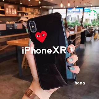 コムデギャルソン(COMME des GARCONS)のギャルソン ♡ iPhoneケース XR ツヤ シンプル 黒(iPhoneケース)