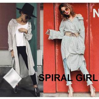 スパイラルガール(SPIRAL GIRL)のSPIRAL GIRL 2WAY シャツワンピ 4694 ロングシャツ (ロングワンピース/マキシワンピース)