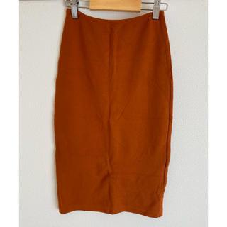 アメリカンアパレル(American Apparel)のアメリカンアパレル タイトスカート オレンジ(ひざ丈スカート)