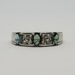 天然アレキサンドライトとダイアモンドのリング(リング(指輪))