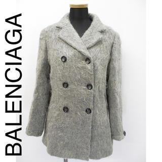 バレンシアガ(Balenciaga)のバレンシアガ BALENCIAGA シルク Pコート(ピーコート)