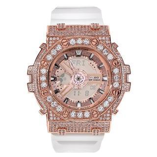 ベビージー(Baby-G)のBABY-G ベイビーG カスタムGショック 大粒CZダイヤベゼル(腕時計)
