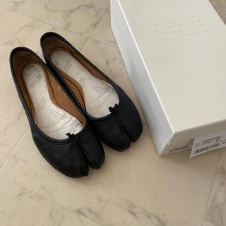 マルタンマルジェラ(Maison Martin Margiela)のマルジェラ足袋バレエシューズ36 ブラック売り切りたいので値下げしました!(バレエシューズ)