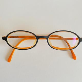 白山眼鏡店 メガネ コンビ色 ブラック×オレンジ(サングラス/メガネ)