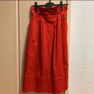 サンタモニカ(Santa Monica)のhaushca 赤ステッチスカート(ロングスカート)