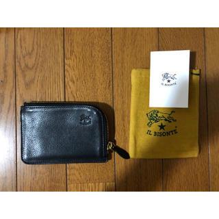 イルビゾンテ(IL BISONTE)のイルビゾンテ L字 財布(コインケース、カードケース)黒(コインケース/小銭入れ)