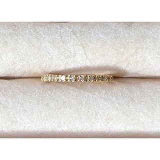 K18 YG ダイヤモンド ハーフエタニティリング 3号です(リング(指輪))