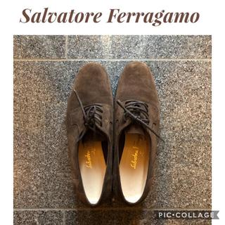 サルヴァトーレフェラガモ(Salvatore Ferragamo)の交渉可能 美品 フェラガモ スエード革靴 ビジネスドレスシューズ(その他)