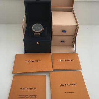 ルイヴィトン(LOUIS VUITTON)のルイヴィトンタンブールホライゾンV2ブラウン(腕時計(デジタル))