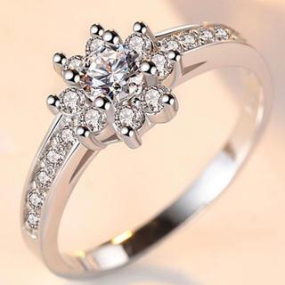 ホワイトゴールドコーティングSilva18号(リング(指輪))