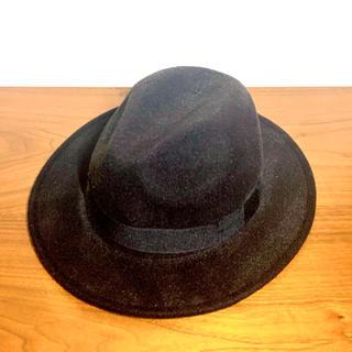 エイチアンドエム(H&M)のH&M 帽子(黒)(ハット)