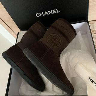 シャネル(CHANEL)の確認用 CHANELムートブーツ一回百貨店内2時間程着用の綺麗なお品35サイズ(ブーツ)