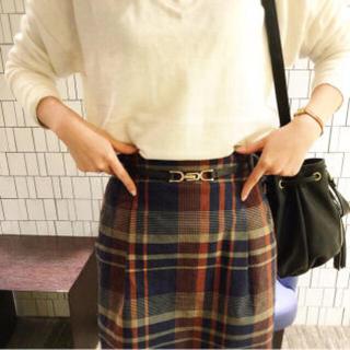 ミスティウーマン(mysty woman)の✳︎今季完売商品✳︎新品チェックスカート(ひざ丈スカート)